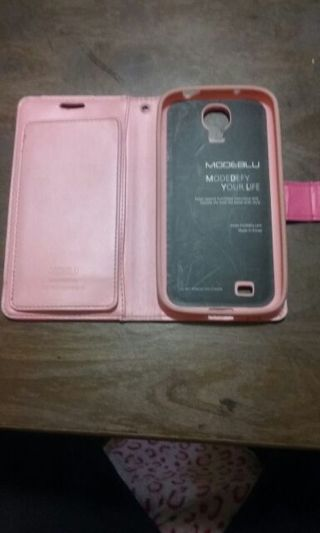 Pink Samsung Galaxy 4 wallet case lightly used