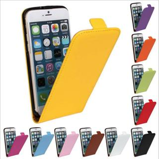 Magnetic Leather Flip Pouch Slim Case Cover for iPhone 4 4s 5 5s 5c 6 6s Plus SE