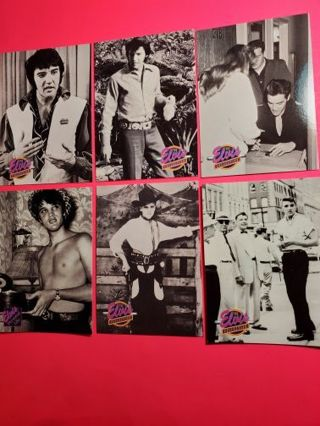 6 Elvis 1992 Cards!