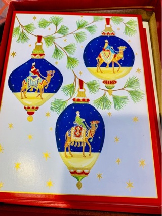Lot of 4 Brand New Hard-to-Find Rare CASPARI Three Kings Christmas Greetings Cards + Envelopes