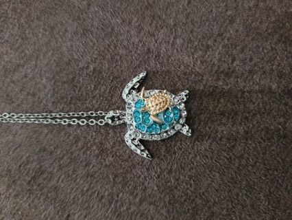 Turtle Necklace with chain. NEW