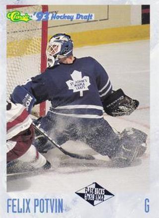 1993 Classic #123 - Felix Potvin FB - St. John's Maple Leafs