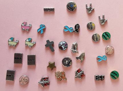 30 asst locket charms