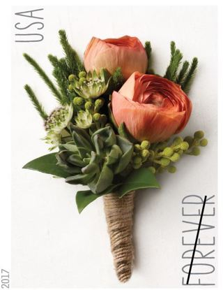 Used USA Stamp  Coral Boutonniere