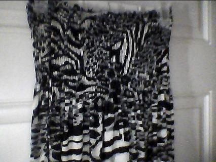 Black White and Grey Animal Print Dress.SZ S-M