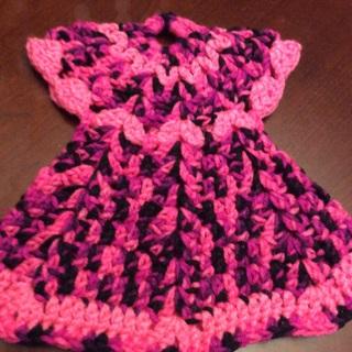 "Hand Crochet Large Decorative Angel PotHolder. Spring Collection 9.x9.5"""