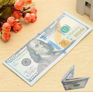 $100 BILL WALLET⭐ DURABLE!⭐ GREAT GIFT IDEA!⭐FREE $HIPPING