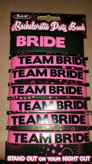 Bride And Team Rubber Bracelets