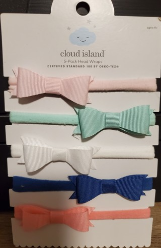 NEW - Cloud Island - 5 Headbands - fits age 0+ and up