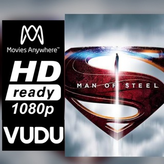 MAN OF STEEL  HD MOVIES ANYWHERE OR VUDU CODE ONLY