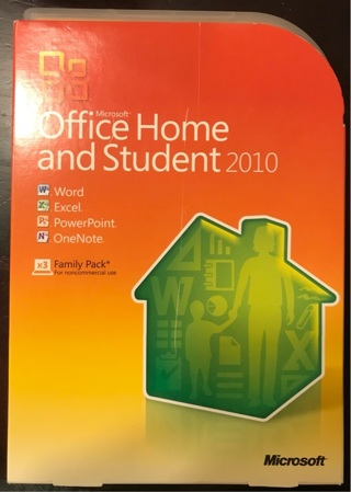 Microsoft office Home and student 2010 with key