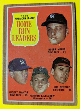 MANTLE MARIS KILLEBREW * HOME RUN LEADERS