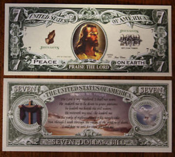 JESUS CHRIST CHRISTIAN DOLLAR BILL NOVELTY MONEY