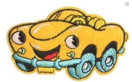 Chevrolet Gas Car Mascot Adhesive Applique Patch Badge IRON ON FREE SHIPPING