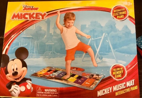 """BNIP """"Disney's: Mickey Mouse"""" Musical Play Mat! 3 Different Games & 4 Pre-Recorded Songs!"""