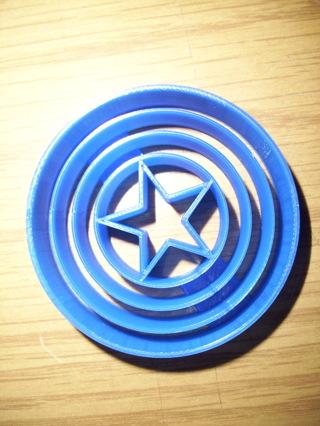 Captain America Logo Cookie Cutter -  (3D Printed Plastic)