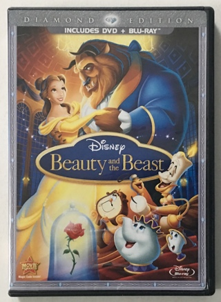 Disney Beauty and the Beast 3-Disc Diamond Edition Blu-ray / DVD Combo Movie - Mint Discs!