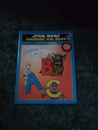 Star Wars Preschool wipe and write Writing Book