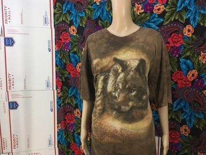 men's Mystic Wolf Moon Shirt The Mountain Tee FREE SHIPPING