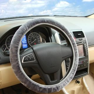 Soft Plush Car DIY Steering Wheel Cover Braid On The Steering-wheel Winter Warm Covers