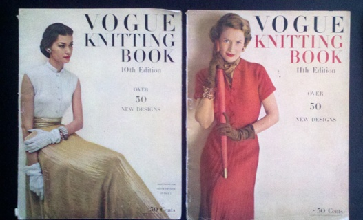 Free Lot Of Two Antique Vintage Vogue Knitting Book Magazines 10th