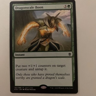 MTG - dragonscale boon - red scales