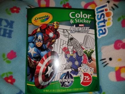 *-_-* CRAYOLA AVENGERS COLOR AND STICKER*-_-*