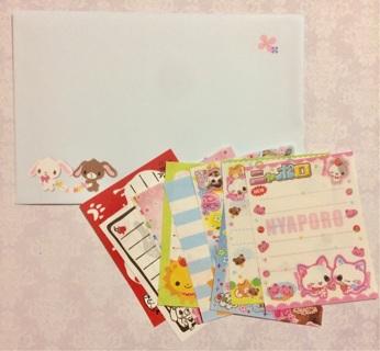 Kawaii memos ~ envelope ~ sticker flakes mix