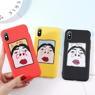 For iPhone X XS MAX XR 6S 8 Korean Style Funny Fun Pattern Case Cover I am Cool