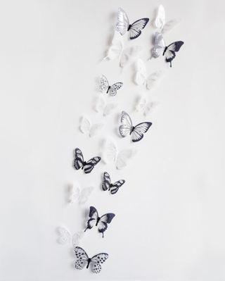 18pcs/lot 3d crystal Butterfly Wall Sticker Art Decal Home decor DIY