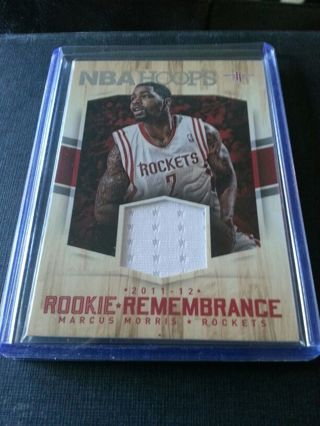 2015-16 Panini Rookie Remembrance Jersey Relic #RR-MM Marcus Morris