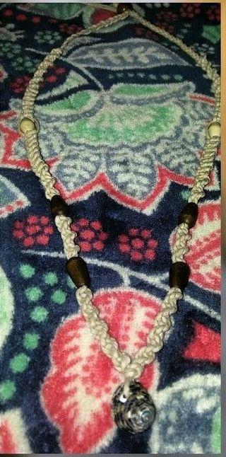 Handmade hemp adjustable necklace