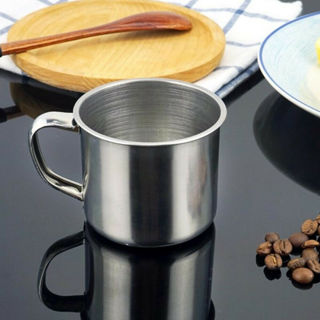 Metal Drinking Tumbler Pint Coffee Mug Portable Cup Stainless Steel Camping