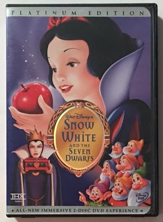Walt Disney Snow White And The Seven Dwarfs Platinum Edition 2-Disc DVD Movie THX - Mint Discs