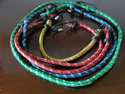 """Bungee Cords Set of 5, 9"""" to 32""""NEW!"""