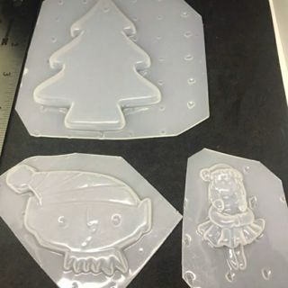 Christmas Plastic Mold set resin supply craft