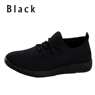 Girl's  Black Breathable Shoes Size 2