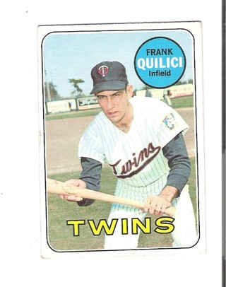 Frank Quilici 1969 Topps card