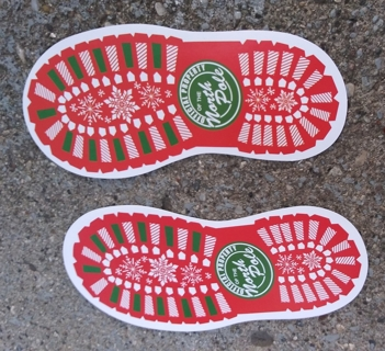 CHRISTMAS GLOSSY PAPER SANTA FOOT TRACKS 10 FOOT TRACKS AS SHOWN IN THE PICTURES
