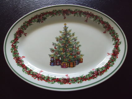 Christopher Radko Christmas Platter Traditions