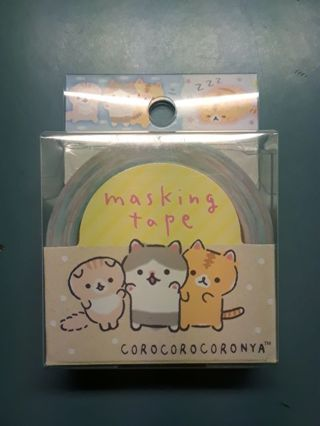 "SanX '2019'~""Corocorocoronya"" Washi Tape, Masking Tape *High End!!* ☆Kawaii Bonus☆"