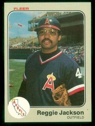 Reggie Jackson - 1983 Fleer #93 - HALL OF FAMER - MINT CARD