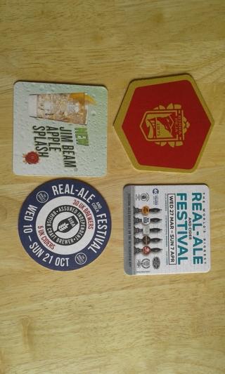 #6 4 beer mats/coasters