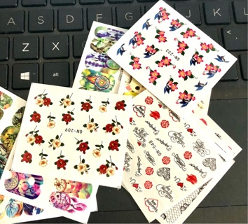 Brand New: Eight Sheets of Colorful and Fun Nail Art. 6 on Each Sheet. Style May Vary