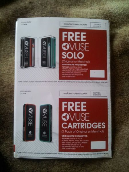 Listing All Cars >> Free: 2 Coupons for FREE 1 Vuse Solo & 1 Vuse Cartridges ...