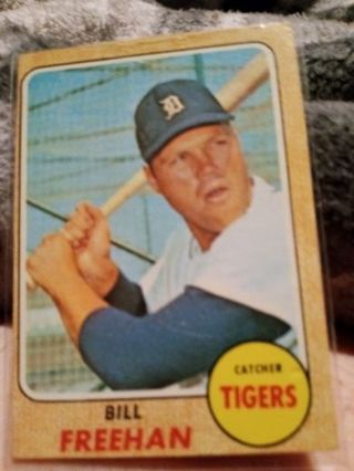 1968 Topps Detroit Tigers Bill Freehan