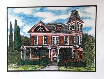 "Brown Victorian -  5 x 7"" art card by artist Nina Struthers - GIN ONLY"