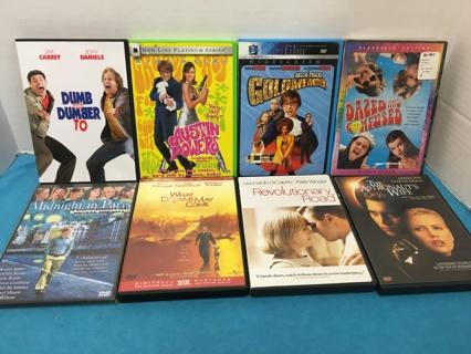 L441 LOT OF 8 DVD'S DUMB GOLDMEMBER AUSTIN POWERS REV RD ASTRO WIFE