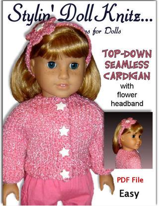 Free Pdf Knitting Pattern Top Down Seamless Cardigan 18 Inch