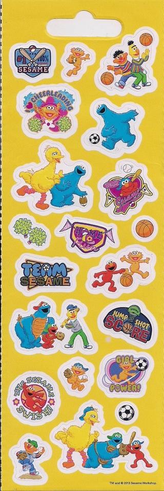 Brand New Sheet Of Sesame Street Stickers